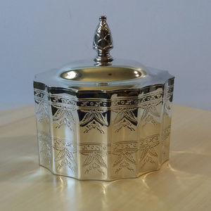 {Godinger Silver 1991} Silver Plated Jewelry Box